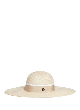 Figure View - Click To Enlarge - Maison Michel - 'Blanche' straw capeline hat