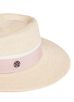 Detail View - Click To Enlarge - Maison Michel - 'Charles' ribbon canapa straw hat