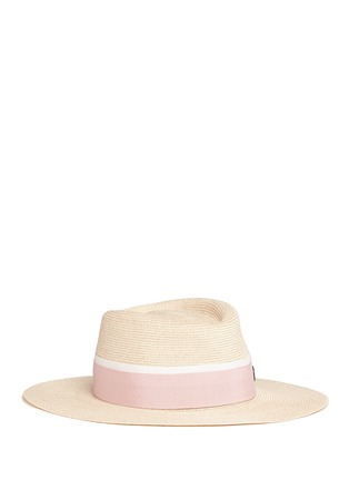 Main View - Click To Enlarge - Maison Michel - 'Charles' ribbon canapa straw hat