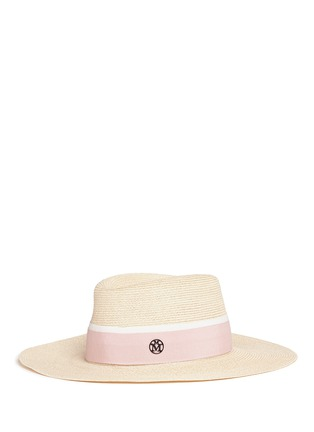 Figure View - Click To Enlarge - Maison Michel - 'Charles' ribbon canapa straw hat