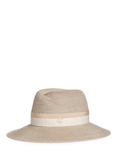 Maison Michel'Rosa' layered ribbon straw cloche hat