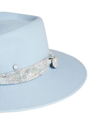 Detail View - Click To Enlarge - Maison Michel - 'Pierre' floral band rabbit furfelt fedora hat