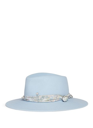 Figure View - Click To Enlarge - Maison Michel - 'Pierre' floral band rabbit furfelt fedora hat