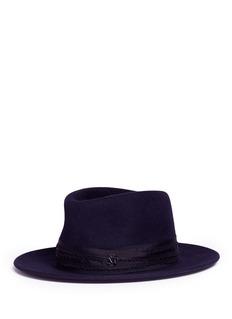 Maison Michel'Thadee' swirl rabbit furfelt fedora hat