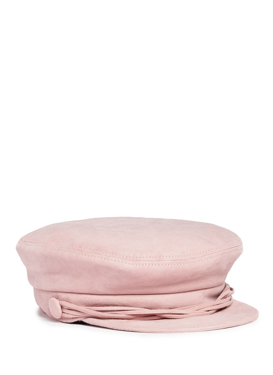 Aby multi cord goat suede officer cap by Maison Michel