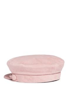 Maison Michel'Aby' multi cord goat suede officer cap