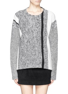T BY ALEXANDER WANG Stripe melangé sweater