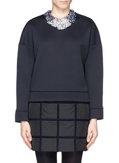3.1 PHILLIP LIMBejewel neck double face jersey sweatshirt