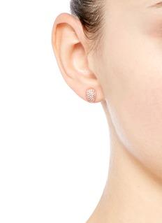 CARAT*'Miria' gemstone pavé rose gold earrings