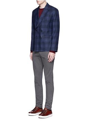 Figure View - Click To Enlarge - Incotex - Slim fit cotton pants