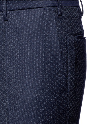 Detail View - Click To Enlarge - Incotex - Slim fit diamond jacquard pants