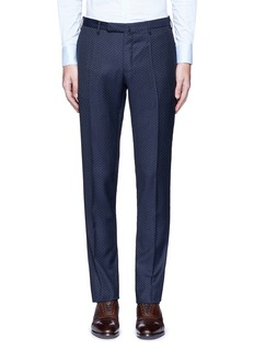 Incotex Slim fit diamond jacquard pants