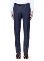 Slim fit diamond jacquard pants
