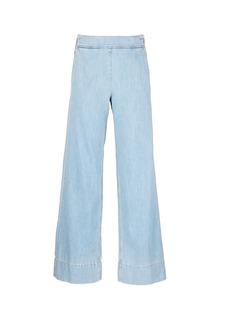 CHLOÉWashed denim wide leg jeans