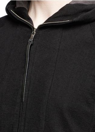 细节 - 点击放大 - THE VIRIDI-ANNE - 单色纯棉连帽外套