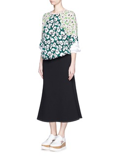 STELLA MCCARTNEY Margarita flower print crepe sweatshirt