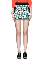 'Kristelle' poppy print colourblock shorts