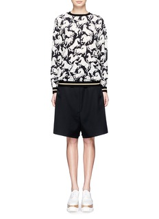 STELLA MCCARTNEYDropped crotch wool shorts