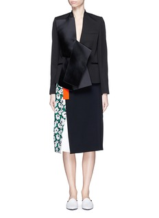 STELLA MCCARTNEY Margarita flower print colourblock skirt