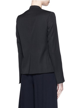 Back View - Click To Enlarge - Stella McCartney - Sateen bow wool tailored jacket