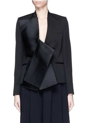 Main View - Click To Enlarge - Stella McCartney - Sateen bow wool tailored jacket