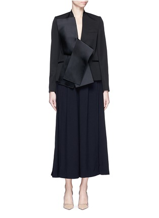 Figure View - Click To Enlarge - Stella McCartney - Sateen bow wool tailored jacket