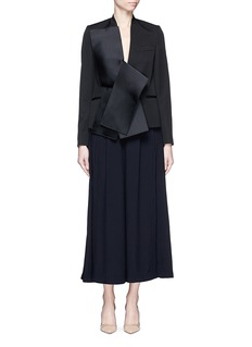 STELLA MCCARTNEY Sateen bow wool tailored jacket