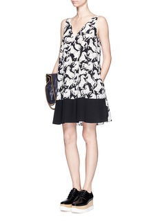 STELLA MCCARTNEY Running horses print silk dress