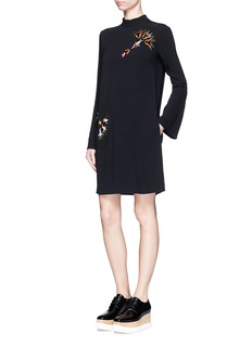 STELLA MCCARTNEYBeaded embellishment high neck cady dress