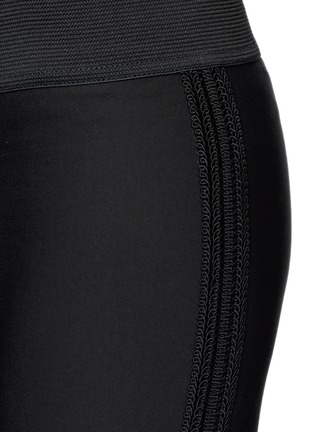 Detail View - Click To Enlarge - Stella McCartney - Cotton blend crepe leggings