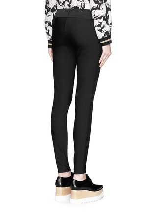 Back View - Click To Enlarge - Stella McCartney - Cotton blend crepe leggings