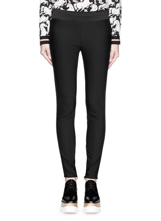 Main View - Click To Enlarge - Stella McCartney - Cotton blend crepe leggings