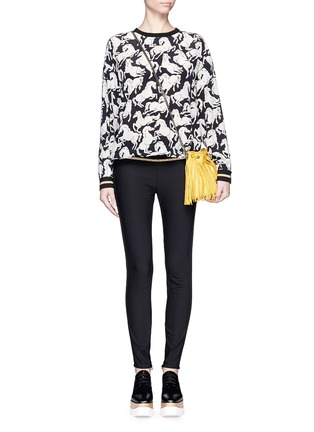 Figure View - Click To Enlarge - Stella McCartney - Cotton blend crepe leggings