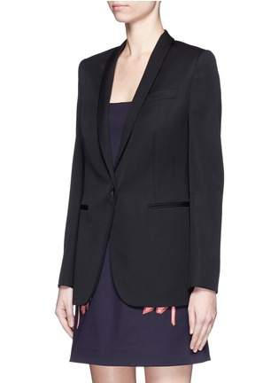 Front View - Click To Enlarge - Stella McCartney - 'Isla' shawl lapel wool blazer