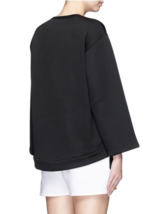 Back View - Click To Enlarge - Stella McCartney - Floral embroidery cutwork scuba jersey sweatshirt