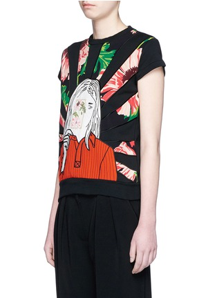 Front View - Click To Enlarge - Stella McCartney - Poppy girl print French terry sweatshirt