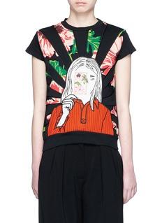 STELLA MCCARTNEYPoppy girl print French terry sweatshirt