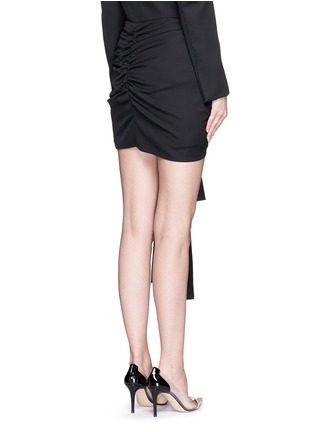 Back View - Click To Enlarge - Stella McCartney - 'Peggy' sash tie tuxedo wool mini skirt