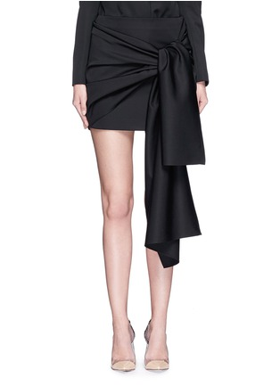 Main View - Click To Enlarge - Stella McCartney - 'Peggy' sash tie tuxedo wool mini skirt