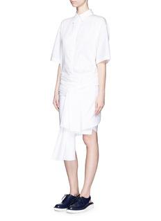 STELLA MCCARTNEYWrap waist cotton poplin shirt dress