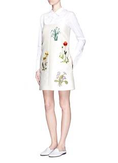 STELLA MCCARTNEY ''Marianne' flower embroidery duchesse dress