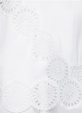 Detail View - Click To Enlarge - Stella McCartney - Broderie anglaise trim poplin top