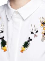 'Laure' embellished cotton piqué shirt