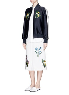 STELLA MCCARTNEY ''Kyle' flower embroidery dropped crotch culottes