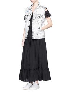 SAINT LAURENTRuffle tier organza maxi dress