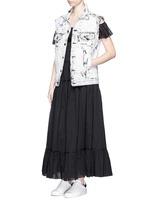 Ruffle tier organza maxi dress