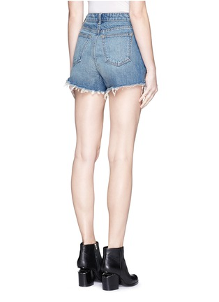 Back View - Click To Enlarge - Alexander Wang  - 'Bite' frayed cuff denim shorts