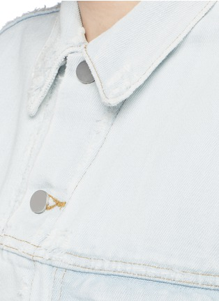 Detail View - Click To Enlarge - T By Alexander Wang - 'Daze' distressed oversize denim jacket