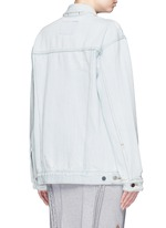'Daze' distressed oversize denim jacket