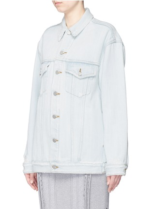 Front View - Click To Enlarge - T By Alexander Wang - 'Daze' distressed oversize denim jacket